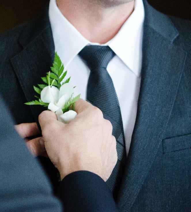 Hochzeitsanzug grau