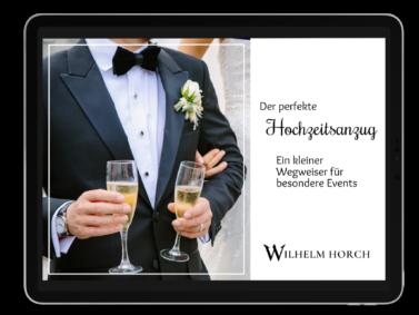 Bild von Tablet mit PDF Der perfekte Hochzeitsanzug